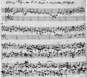 Notenblatt: Johann Sebastian Bach